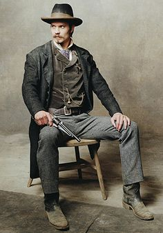 Timothy Olyphant in Deadwood. A great show - even if I had no clue what was going on half the time.