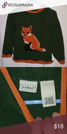 Boy's fox Sweater bundle Size 12-18m LLBean fox sweater. All items $5 and under must be bundled. LLBean Shirts & Tops Sweaters