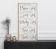 Happy Moments Praise God, Difficult Moments Seek God, Every Moment Thank God Sign, Guide, Scripture Sign, Bible Verse, Inspirational Sign by CraftyMamaGifts on Etsy https://www.etsy.com/listing/465367006/happy-moments-praise-god-difficult