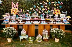 Dessert Table from a Butterfly Party via Kara's Party Ideas! KarasPartyIdeas.com (29