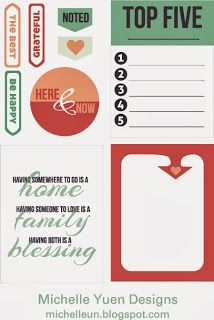 Free Life In Details Journal Cards and Labels from Michelle Yuen