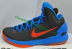 new product dd12a dcbbe kevin durant shoes 2013 Nike KD V Black Photo Blue Team Orange 554988 048