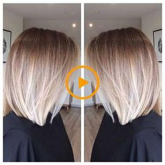 Stay trendy with these Ombre Colored Bob Hairstyles, Balayage Ombre Bob, Hair Color . Ombre Bob Hair, Brown Ombre Hair, Ombre Hair Color, Ombre Style, Blonde Ombre Bob, Wavy Hair, Short Bob Hairstyles, Cool Hairstyles, Balayage Hair Blonde