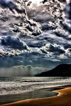 Amazing Coulds and Beach | See more Amazing Snaps - I would love to be walking on this beach.