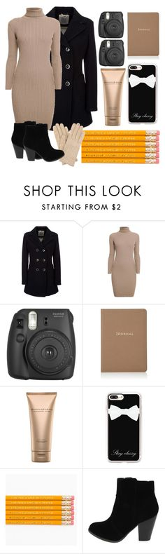 """TheJournalist!"" by rjizzle ❤ liked on Polyvore featuring Geox, Rumour London, Fujifilm, Barneys New York, Donna Karan, Casetify and Bottega Veneta"
