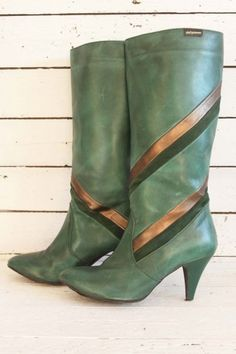 Groene vintage laarzen.
