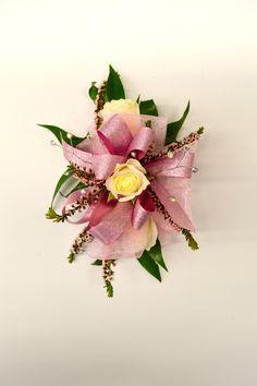 Spray rose wrist corsage http://www.caseysgardenshop.com/