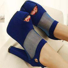 2013 women's shoes summer platform high-heeled shoes thick heel mesh sandals open toe sandals pumps woman FREE SHIPPING-ZZKKO