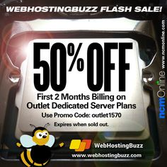 Get off your first 2 months billing on any new WebHostingBuzz Outlet Dedicated Server hosting package. Use promo code above. Expires when sold out. 2 Months, Coupon Codes, Coupons, Coding, How To Plan, Coupon, Programming