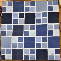 This is a custom memory quilt using jeans. Denim Quilts, Denim Quilt Patterns, Blue Jean Quilts, Quilting Patterns, Shirt Quilts, Bag Patterns, Quilting Ideas, Jean Crafts, Denim Crafts