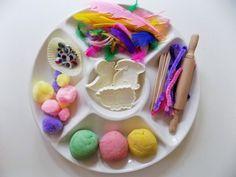 Easter Playdough Platter - NewYoungMum