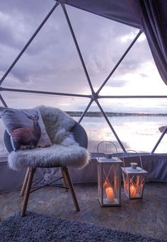 Aurora Glamping, Harriniva Hotels & Safaris, Muonio, Finnish Lapland. Photo from Matkakuume.net blog