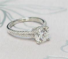Split Shank Diamond Ring with 1.71ct Center Diamond