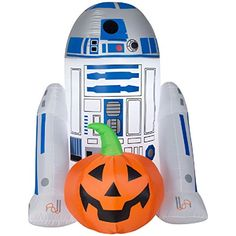 Shop Gemmy Airblown with Jack-O-Lantern Inflatable at Lowe's Canada. Find our selection of outdoor halloween decorations at the lowest price guaranteed with price match. Star Wars Halloween, Halloween Cans, Halloween Horror, Halloween Decorations, Halloween Costumes, Halloween Ideas, Inflatable Pumpkin, Halloween Inflatables, Star Wars Merchandise