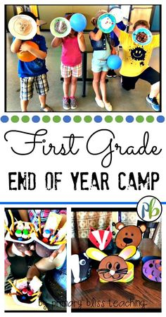 Celebrate the end of the school year with your first graders camp style. Your students will forever remember this week of activities, crafts, reading, math, writing, and best of all...snacks! Click to learn more!