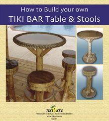 How To Build Your Own Tiki Bar Table & Stools    #Tiki stools #tiki chairs