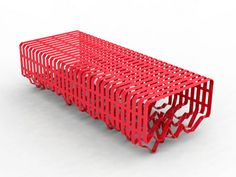 Interference, urban bench by Alexandre Moronnoz