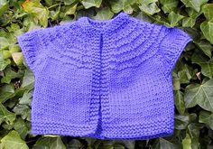 Baby Vest Garter Ridges by Suzies Stuff - *pattern Baby Cardigan Knitting Pattern Free, Baby Knitting Patterns, Baby Patterns, Jumper Patterns, Knitting Ideas, Knitting For Kids, Free Knitting, Knit Or Crochet, Crochet Baby