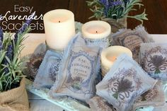 Easy Lavender Sachets - All Things Heart and Home