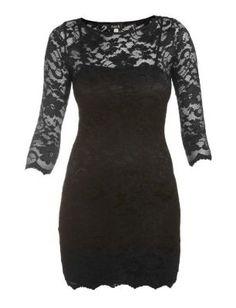 John Zack Black Lace Bodycon Dress - Evening & Party Dresses - Womens | New Look