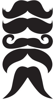 DIY Mustaches printable for party tutorial