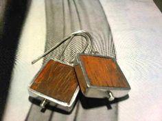 wrapped ebony silver earrings by miofiore on Etsy, $28.00