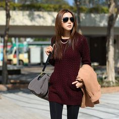 Pocket-Front Long Sweater from #YesStyle <3 SO Central YesStyle.com
