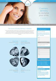 Senova Dental Studios website design and production by design4dentists.com. Fully responsive websites for dentists in Watford.