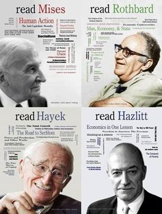 "praxeoliberty: ""Read Mises, read Rothbard, read Hayek, read Hazlitt and follow PraxeoLiberty! """