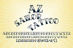 AZ Sailor Tattoo by Artistofdesign on @creativemarket