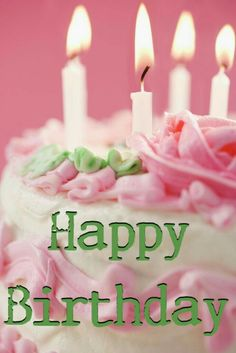 Happy Birthday sweet pink cake and candles yum Happy Birthday Wishes, Birthday Greetings, It's Your Birthday, Girl Birthday, Birthday Parties, Happy Birthday Sweet Girl, Homemade Birthday, Happy Party, Birthday Weekend