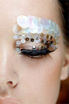 ".What do you think? Good work look, right? Nothing says ""I'm professional"" like sequine eyebrows"
