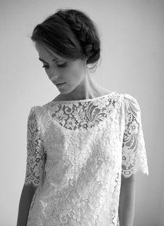 """Robe en vente chez """"Gueule d'Ange"""" à Neuchâtel.    http://www.femina.ch/mon-style/mode/les-robes-de-mariee-les-plus-tendances-de-2013"""