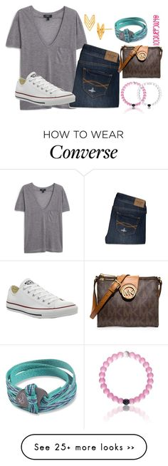 """""""just got iOS9!!!! it's so different!!"""" by hmcdaniel01 on Polyvore featuring MANGO, Abercrombie & Fitch, Converse, MICHAEL Michael Kors, Gorjana and Chaco"""