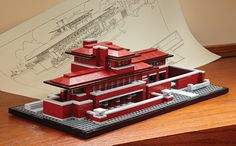 Robie House Lego - Would like to get this set, looks like it would be fun to build...