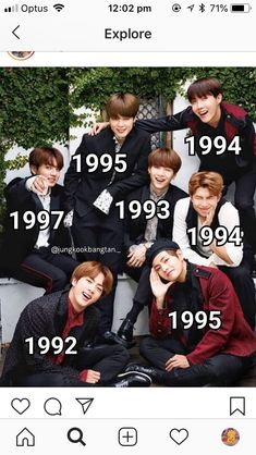 Where is the years they were born Jungkook is 2 years younger than Taehyung and Jimin Bts Taehyung, Bts Bangtan Boy, Bts Jungkook, Bts Memes, Foto Bts, K Pop, Bts Birthdays, Bts Facts, Bts Group Photos