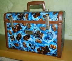 Customized Vintage Train Case MakeUp Case by SingingPlanetGoods on Etsy. Check other photos to see customized train cases that are available with fabrics shown or choose your own!