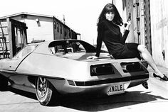 Stephanie Powers on Man From UNCLE's 1967 AMT Piranha