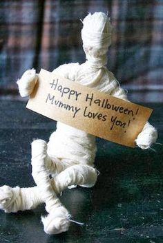 Manualidades como hacer momias halloween ~ Solountip.com