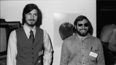 Steve Jobs, Steve Wozniak and Ronald Wayne form Apple Computer, Inc on April Here, Steve Jobs and Steve Wozniak are photographed at the first West Coast Computer Fair in the year they debuted the Apple II. Bill Gates Steve Jobs, Steve Jobs Film, Steve Wozniak, Apple Ii, All About Steve, Ronald Wayne, Today In History, Sign Company, Magazine Articles