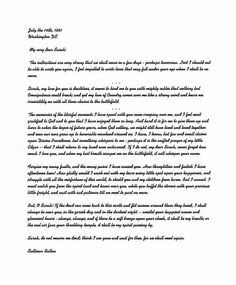 Sullivan Ballou Letter. A farewell letter from a Civil War soldier to his wife Sarah. The most beautiful love letter of all time.