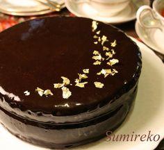 vegan chocolate cake with vegan chocolate tofu cream