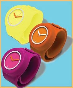 remember slap bracelets? meet slap watches! I want one or two or three!!