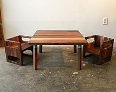 Our Ella Adams Kids Table And Cube Chairs Are Made Out Of Solid Walnut Or  Maple. The Table Comes With Two Sets Of Legs. One Set Of Legs Is