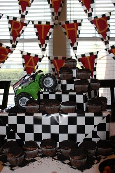 "Photo 13 of 37: Monster Truck / Birthday ""Monster Jam Party"" 
