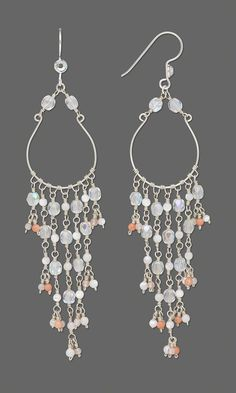 Jewelry Design - Earrings with Czech Fire-Polished Glass Beads, Shell Beads and Swarovski Flat Back Crystals - Fire Mountain Gems and Beads