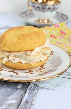 Golden Irish Cream and Banana Whoopie Pies --Use that leftover Irish Cream, for Easter or Mother's Day Brunch... think of it as the edible equivalent of a Mimosa, but it goes well with tea :D