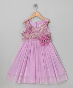 Take a look at this Lavender Lilac Botanicals Dress - Toddler & Girls by Le Pink on #zulily today!