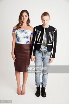 Actresses Natalie Krill and Erika Linder from the film 'Below Her Mouth' pose for a portrait during the 2016 Toronto International Film Festival at the Intercontinental Hotel on September 2016 in. Get premium, high resolution news photos at Getty Images Natalie Krill, Erika Linder, Below Her Mouth, Androgyny, International Film Festival, Lgbt, My Girl, Leather Skirt, Exotic
