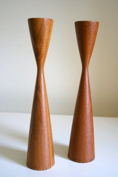 Pair of Mid Century Modern Teak Scandinavian by TheArtofSalvage